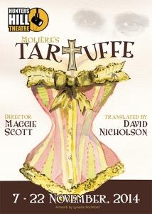 """Tartuffe """"David Nicholson"""" """"Hunters Hill Theatre"""" """"Penny Korths"""" poster"""
