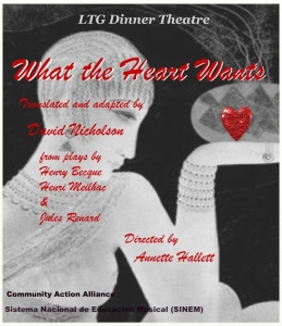"""David Nicholson"" playwright translation adaptation theatre theater plays Toronto ""The Colour of Grass"" ""Jules Renard"" ""Silvia Schneegans"" ""John Clarke"" ""LTG Costa Rica"""