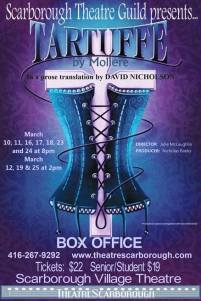 "Tartuffe Moliere ""David Nicholson"" ""Scarborough Theatre Guild"" poster"