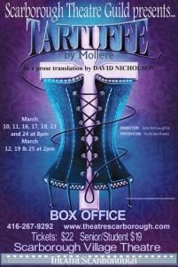 """Tartuffe Moliere """"David Nicholson"""" """"Scarborough Theatre Guild"""" poster"""