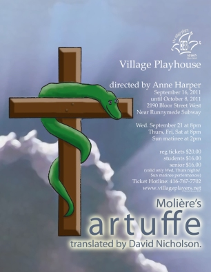 Village Players, Toronto - poster by David Howse